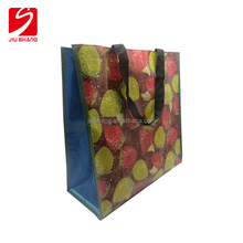 Reusable Supermarket Fruit Full Color Printing Fabric Pp Woven Shopping Bag