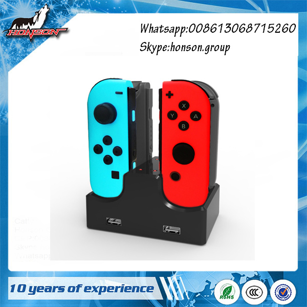 4 in 1 Joy-Con Charging Dock with LED Indicator with 2 USB Ports for Nintendo Switch Charger Station