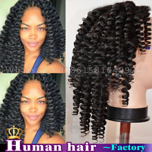 150 Density Tight Afro Kinky Curly Wig Kinky Curly Lace Front Wigs / Glueless Full Lace Human Hair Wig For Black Women 16-24inch