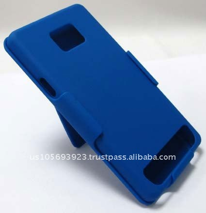 New for Samsung I9100 / Galaxy S II Shell Holster Combo kickstand - Blue