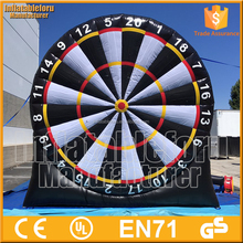 commecial giant stick dart board game with balls, inflatable balloon dart game for sale