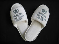 Hotel custom logo slippers open toe type