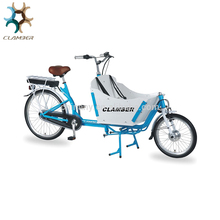 Hot sale electric cargo bike/bicycle with front box,reverse trike for adults