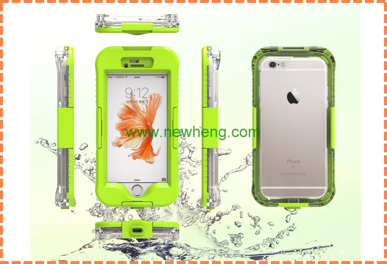 New Design pc+pet fingerprint features touch-Screen waterproof clear phone case for iphone 7