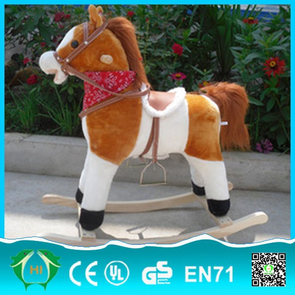 Funny run toys!!! Hot selling supplier wholesale wooden rocking horse toy