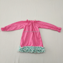 wholesale high quality custom children suit girls ruffled long sleeve top shirt