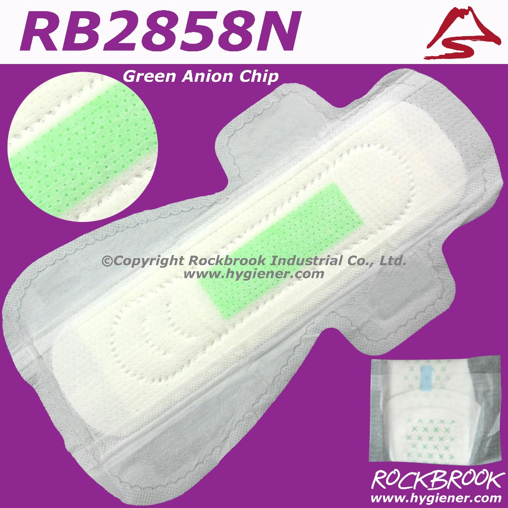 2017 Hotsale Brand Name Anion Sanitary Napkin with Negative Ion Philippines Manufacturer from Guangzhou