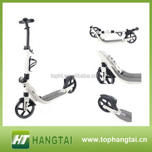 Double suspension adjustable handle bars kick scooter for adult