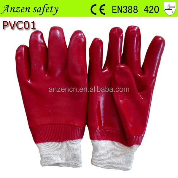 2015 best sale oil resistant pvc coated working glove with competitive price
