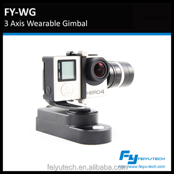 feiyutech FY-WG wearable gimbal go pro stabilizer for Go pro3,3+, Go pro 4, on head/wrist/waist/bike/car/motorbike