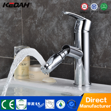 chrome finish single handle basin mixer cheap brass pull out faucet