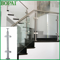 AISI304 or 3136 plexiglass or tempered glass deck railing