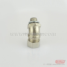 Tianjin factory supply the nickel plated brass straight adapter selling to the overseas