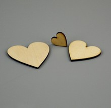 blank unfinished natural crafts wood heart love ,wedding ornaments wood love heart