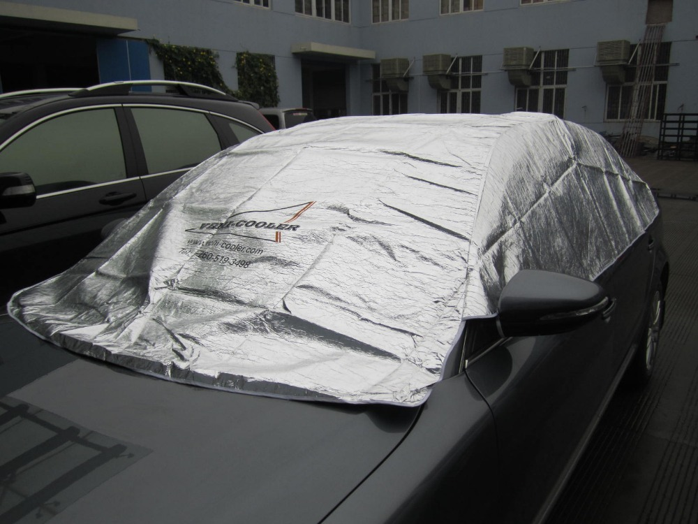 sun protection half car covers aluminum foiled half car cover