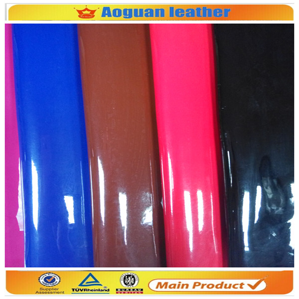 New arrival factory price shiny leather raw material for making handbag,free swatch sample
