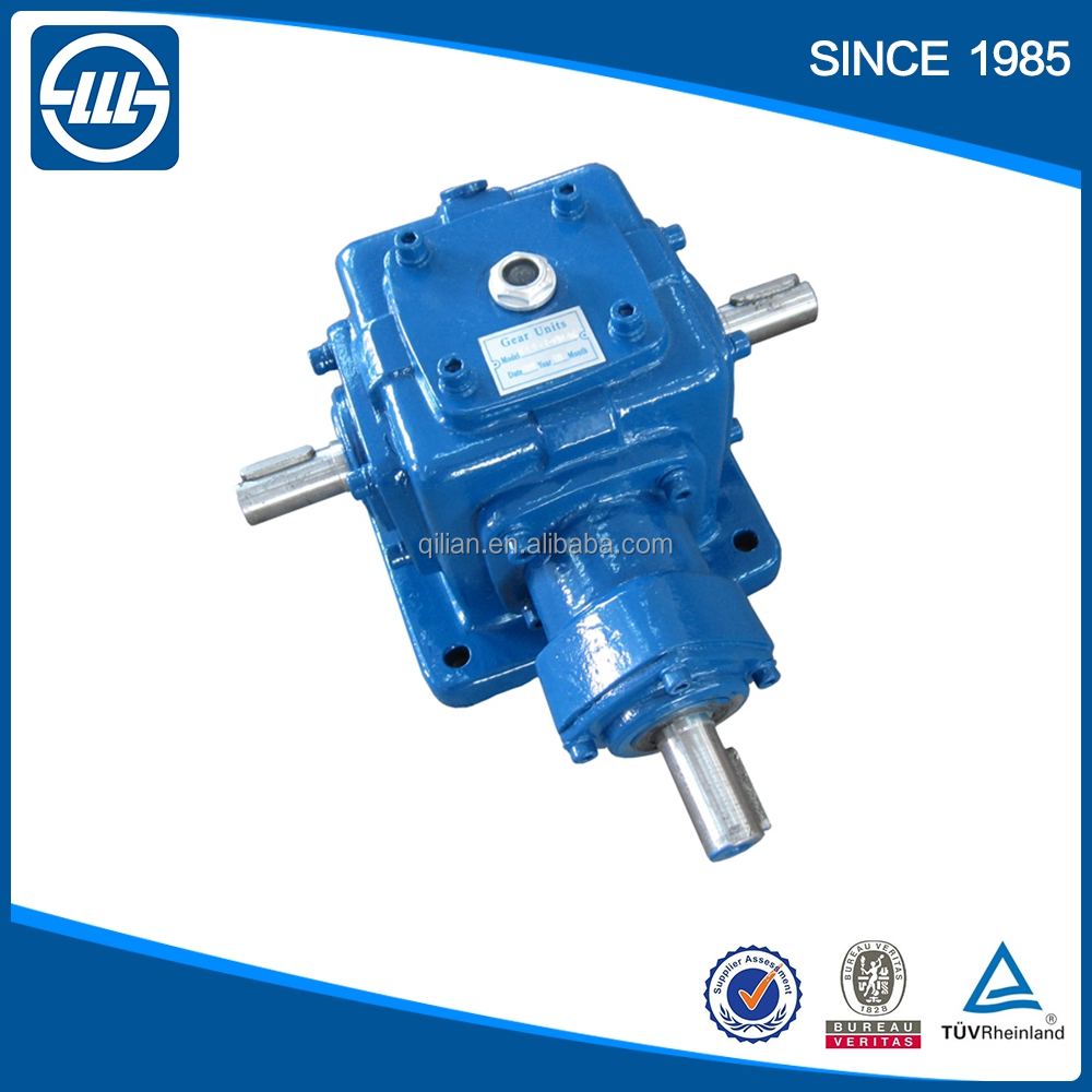 2: 1 ratio gearbox T series of bevel gear reducer