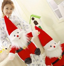 Christmas Day 25-65CM plush santa claus stuffed christmas decoration toy