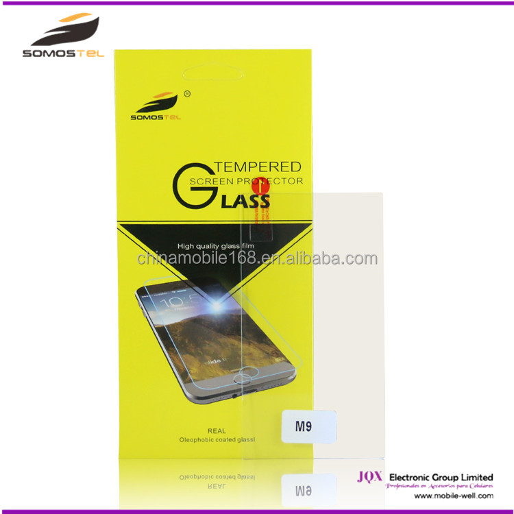 [Somostel] In stock high quality tempered glass screen protector for HTC one x m7 m8 m9