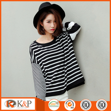 OEM service latest design casual knitted pullover girls sweater dress
