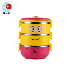 2017 New design Colorful Lid Stainless Steel Lunch box