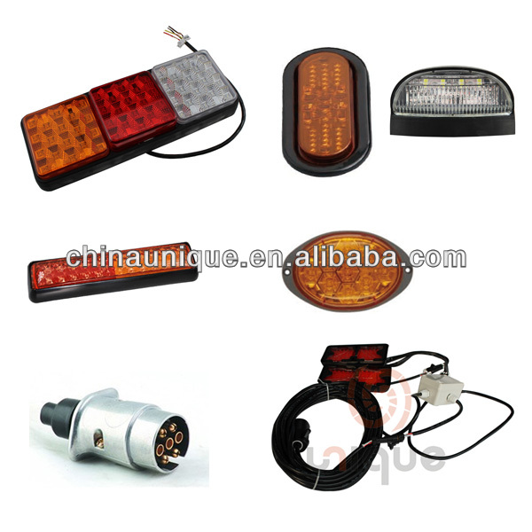 12V&24V Waterproof Trailer Hitch Lighting Kit Tail Light Wiring Harness LED Truck Lights