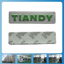 Aluminum Metal Logo, Metal Nameplate with Company label