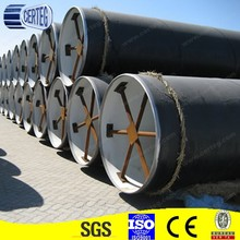 API 5l grade X42 low/killed carbon steel ssaw pipe black painted