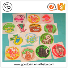 China custom scratch and sniff sticker printing
