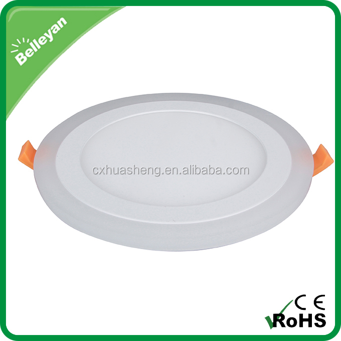 Round led panel light smd, recessed led round panel light, double color led panel light round