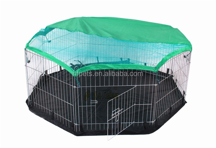 Folding Small Animal Metal Rabbit Hutch