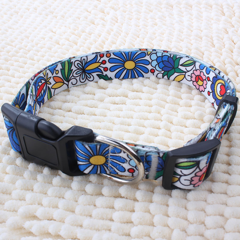 Wholesale High Quality Polyester Sublimation Customized Pattern Luxury Citronella Dog Collar