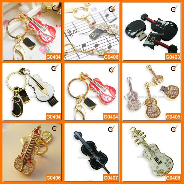 Music Novelties and Gifts/Violin & Guitar USB Flash Drive (G04)