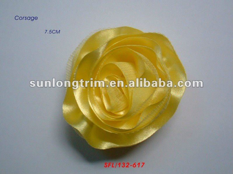 7.5CM satin rose corsage flower