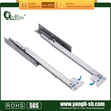 Undermount soft close drawer channel (with CL plastic clips for slide)