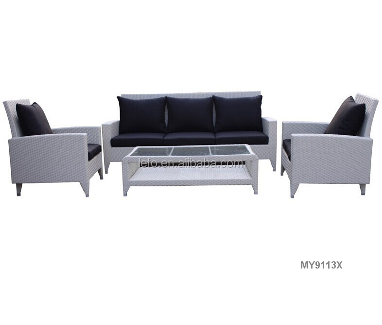 Outdoor modern ratten sofa design furniture for garden