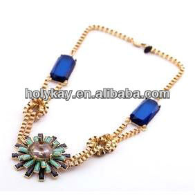 Middle eastern style jewelry,Jewelry of Cleopatra,mysterious gold plated link crystal necklace