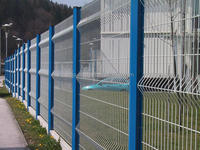 Wire mesh fence. pvc coated iron picket fence.Hot dip galvanized fence netting