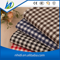 China supplier 100 cotton checked shirting fabric for school uniform
