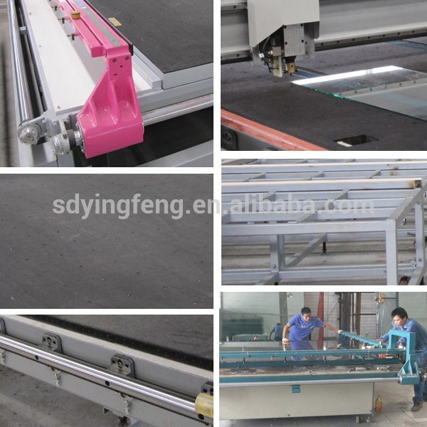JFQG-2620 semi-automatic double bridge overpass precision glass cutting machine table