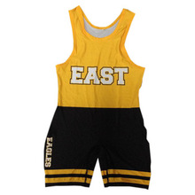 Custom made cheap sublimation wrestling singlets for youth and kids
