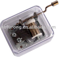 Hand Crank Music Box For Promotion Gift With Plastic Container (YYHSYDN10)