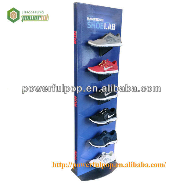 Custom New Products Nike Shoes Retail Advertising Cardboard Display Rack