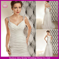 SD1172 sexy cheap mermaid wedding dresses tulle bottom wedding dress with low cut back
