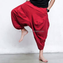 Men's New Summer Unique Loose Baggy Hip-hop Cool Retro Harem Pants Long Trousers