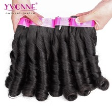 Natural color candy curl brazilian human hair wet and wavy weave