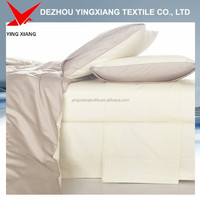 hometextile 300T satin fabric bleached white sheeting fabric
