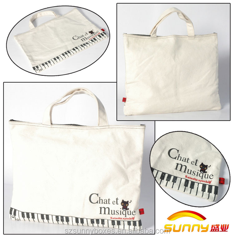 Extra Durable Cotton Canvas Printed Shopping Tote Bag