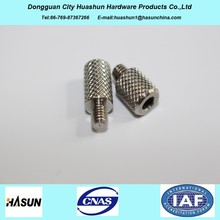 Custom Stainless Steel Knurled Threaded Screw, Screw With Internal Thread