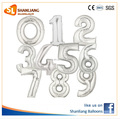 "16"" Inch Silver Color Number Foil balloon, 0-9 Numbers Mylar Balloon"